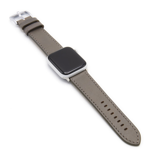 Grey Russian Leather Watch Band for Apple Watch