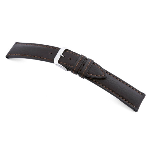 Mocha RIOS1931 Colorado, Buffalo Leather Watch Strap | Panatime.com