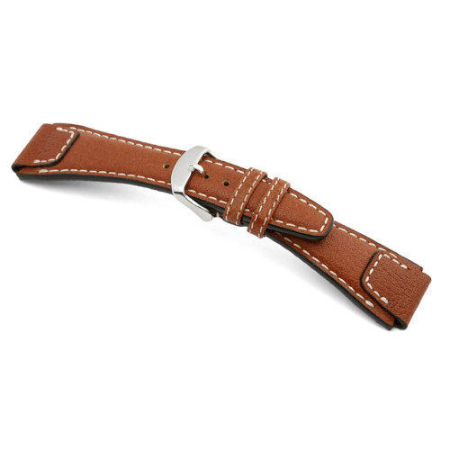 RIOS1931 Cognac Nature, Buffalo Leather Watch Strap | Panatime.com