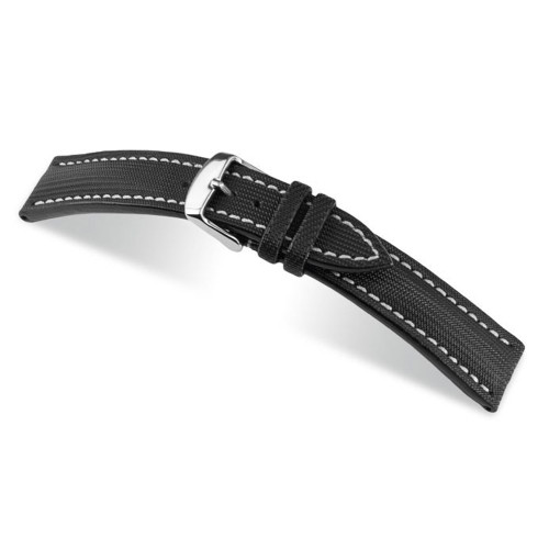 RIOS1931 Black Bass, Synthetic Nytech (Water Resistant) Watch Strap | Panatime.com