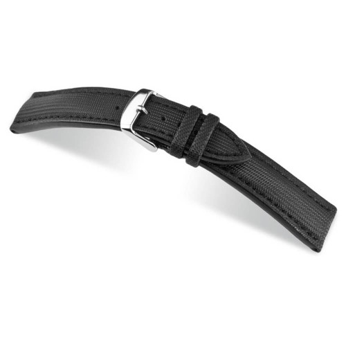 RIOS1931 Black Just, Synthetic Nytech (Water Resistant) Watch Strap | Panatime.com