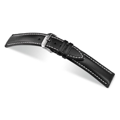 RIOS1931 Black Next, Synthetic Ballistic (Water Resistant) Watch Strap | Panatime.com
