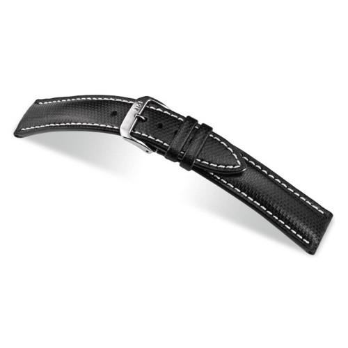 RIOS1931 Black Next, Synthetic Ballistic (Water Resistant) Watch Strap | Panatime.com