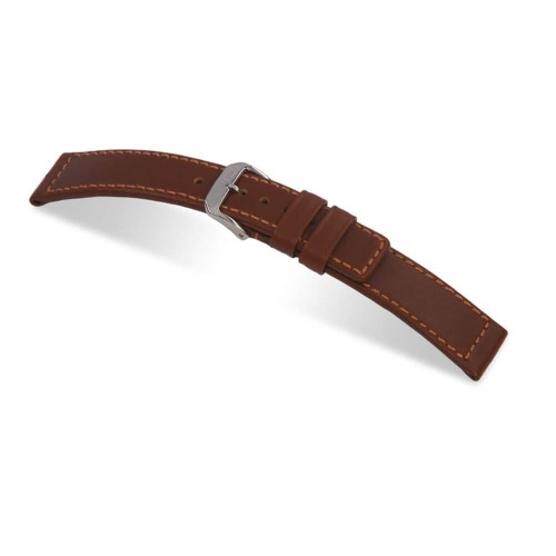 RIOS1931 Mahogany Navigator, Hydrophobic Leather (Water Resistant) Watch Strap | Panatime.com