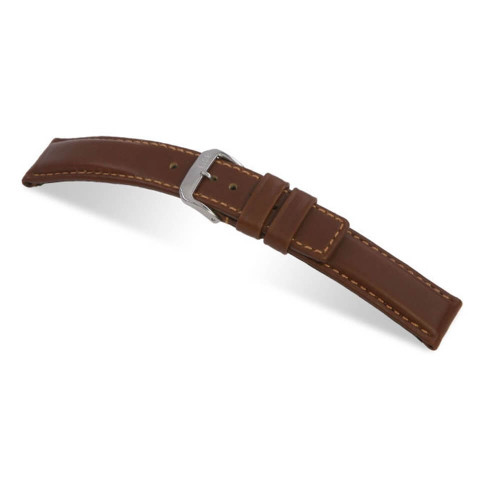 RIOS1931 Mahogany Diver, Hydrophobic Leather (Water Resistant) Watch Strap | Panatime.com