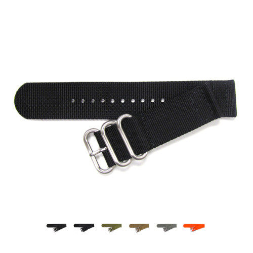 Two-Piece Ballistic Nylon NATO Watch Strap - Main | Panatime.com