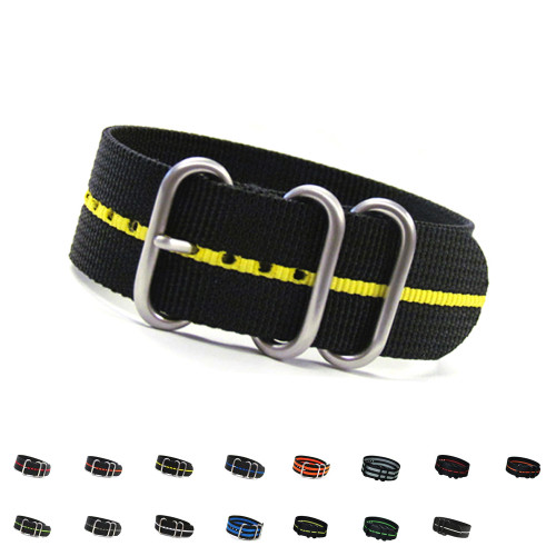 3-Ring Ballistic Nylon  Watch Straps | Panatime.com