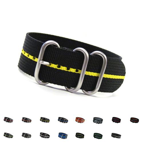 3-Ring Ballistic Nylon  Watch Straps | Panatime.com