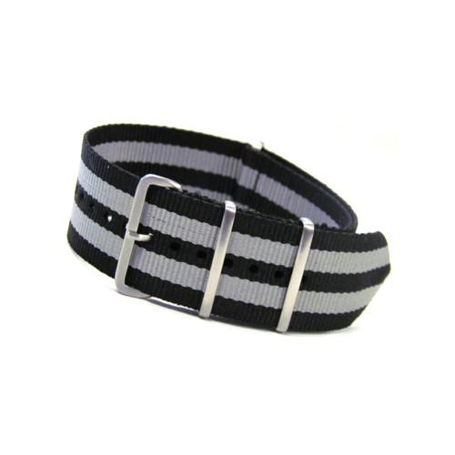 Bond 4-Square Ring Ballistic Nylon Watch Strap - Stainless Steel Rings | Panatime.com