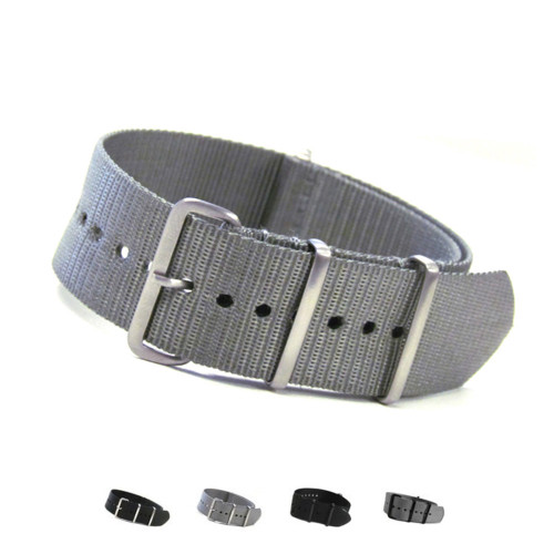 4-Square Ring Ballistic Nylon One-Piece Watch Strap (Solid) | Panatime.com