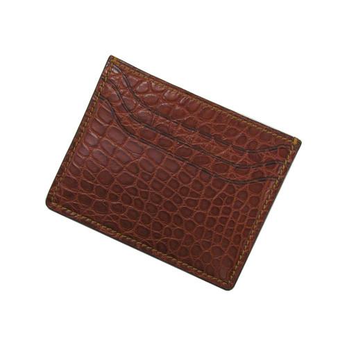 RIOS1931 Cognac Premium Genuine Alligator Wallet | Panatime.com