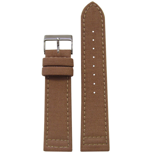 18mm Sand Genuine Cordura Watch Strap with Lorica Lining (MS850) | Panatime.com