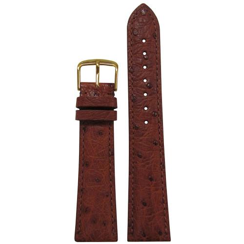 20mm Cognac Genuine Ostrich Watch Strap (MS2003)   Panatime.com