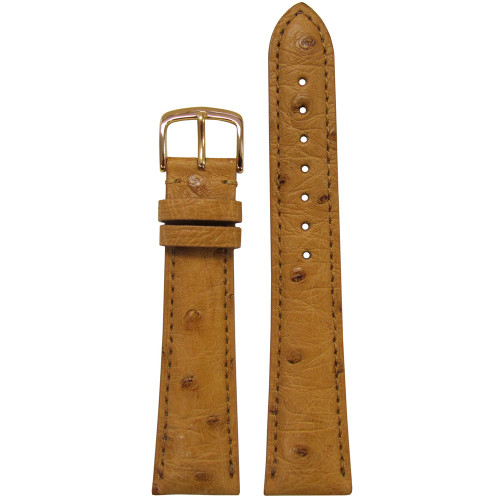 18mm Natural Genuine Ostrich Watch Strap (MS2003) | Panatime.com