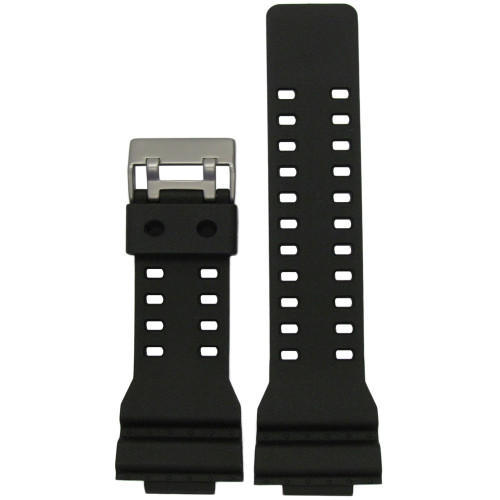 16mm Black Waterproof Polyurethane Diver Watch Strap for Casio G-Shock (MS3220) | Panatime.com