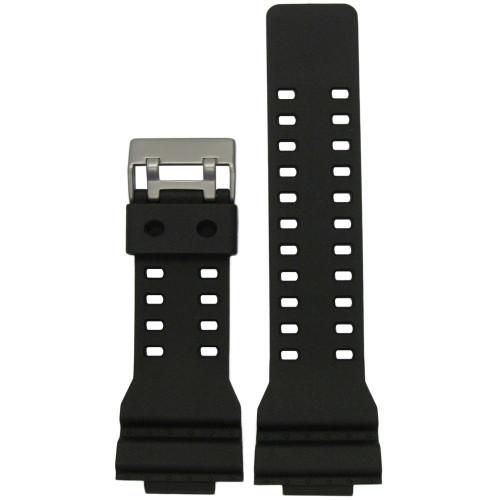 16mm Black Waterproof Polyurethane Diver Watch Strap for Casio G-Shock (MS3220)   Panatime.com