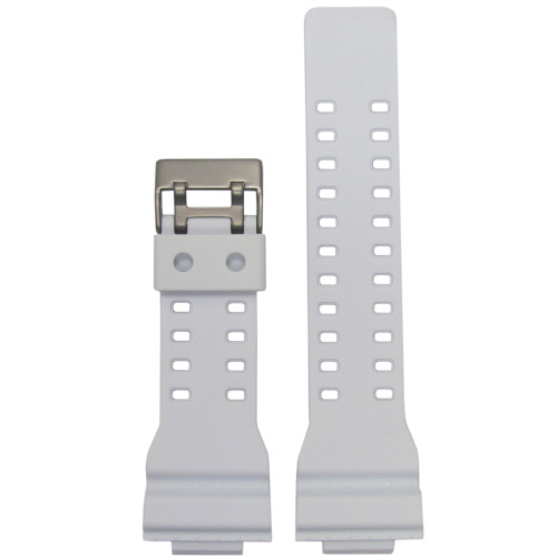 16mm White Waterproof Polyurethane Diver Watch Strap for Casio G-Shock (MS3220) | Panatime.com