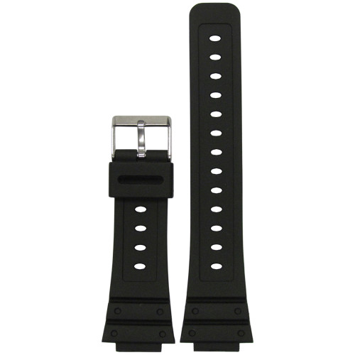 16mm Black Waterproof Polyurethane Pro-Diver Watch Strap for Casio G-Shock (MS3210) | Panatime.com