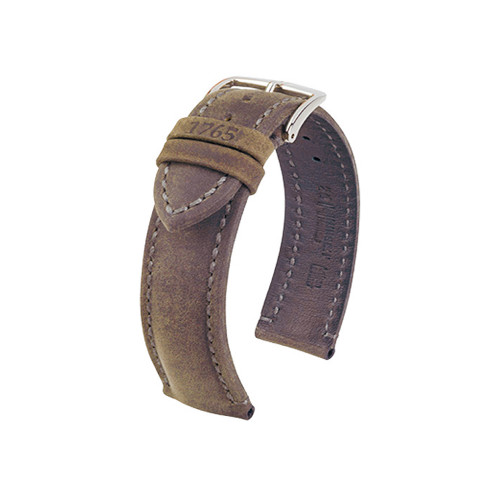 24mm Golden Brown Hirsch Heritage Genuine Vintage Leather Watch Strap | Panatime.com