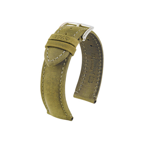 22mm Honey Hirsch Heritage Genuine Vintage Leather Watch Strap | Panatime.com