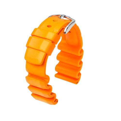 22mm Orange Hirsch Extreme - Premium Caoutchouc Rubber Watch Strap | Panatime.com