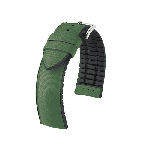 20mm Olive Hirsch Arne - Hirsch Performance Series Italian Calfskin Watch Strap with Premium Caoutchouc Lining   Panatime.com