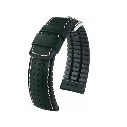 18mm Black Hirsch Tiger - Hirsch Performance Series Perforated Calfskin Watch Strap   Panatime.com