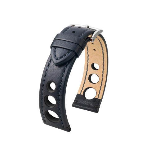 18mm Black Hirsch Rally Watch Strap with Black Stitching & Siding | Panatime.com