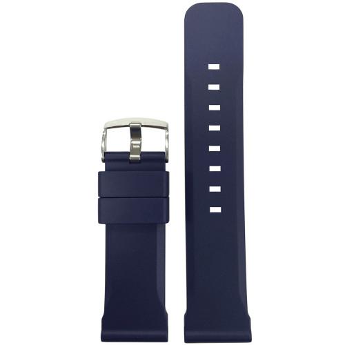 24mm Dark Blue Bonetto Cinturini Model 317 - Genuine NBR Italian Rubber Watch Strap | Panatime.com