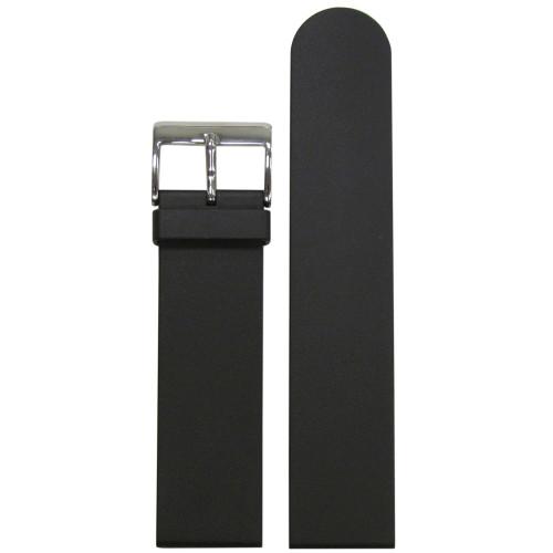 20mm Black Bonetto Cinturini Model 322 Smooth Diver- Genuine NBR Italian Rubber Watch Strap | Panatime.com