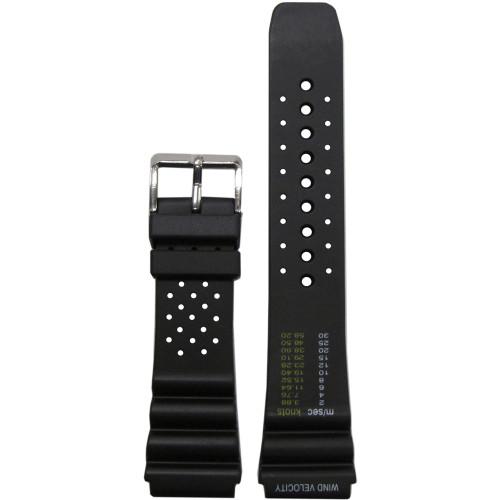 18mm Black Bonetto Cinturini Model 285.S Wind Velocity- Genuine NBR Italian Rubber Watch Strap | Panatime.com