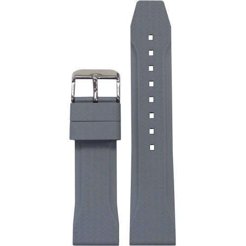 22mm Grey Bonetto Cinturini Model 324 Carbon Etching - Genuine NBR Italian Rubber Watch Strap | Panatime.com