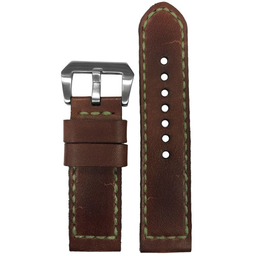 24mm Gunny Straps Niellacio - Genuine Vintage Leather Watch Strap for Panerai | Panatime.com