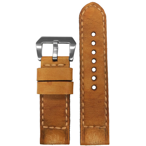 """24mm Gunny Straps """"Caitlin 1"""" - Genuine Vintage Leather Watch Strap for Panerai 