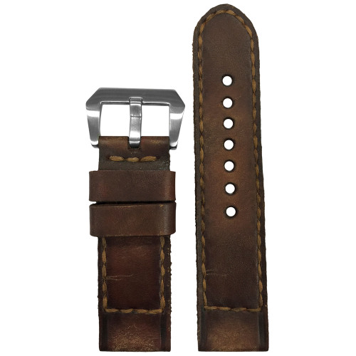 "24mm Gunny Straps ""Caitlin 4"" - Genuine Vintage Leather Watch Strap for Panerai 