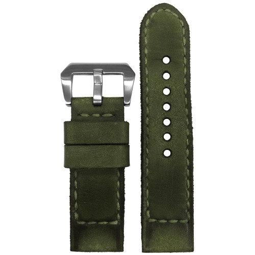 "24mm Gunny Straps ""Caitlin 7"" - Genuine Vintage Leather Watch Strap for Panerai 