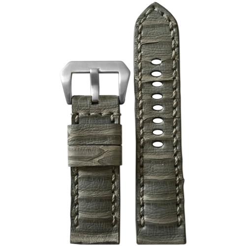 24mm Panatime Prestige Handmade Slate Grey Genuine Tilapia Watch Strap   Panatime.com