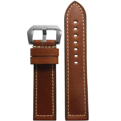 22mm (XL) Whiskey Chromexcel® Vintage Leather Watch Strap | Panatime.com