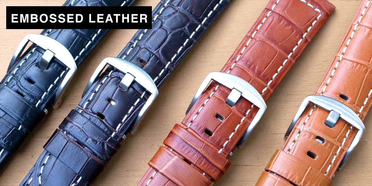 Embossed Leather Watch Straps