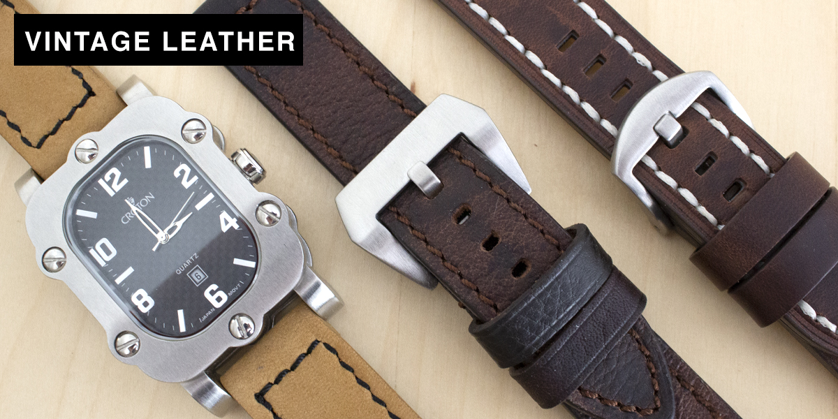 Vintage Leather Watch Straps