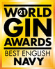 World Gin Awards 2021 Best English Navy medal won by York Gin Outlaw.