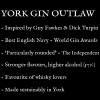 Description of York Gin Outlaw Navy Strength - inspired by Guy Fawkes and Dick Turpin. Best English Navy, World Gin Awards 2021.