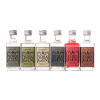 Six York Gin miniature bottles without gift box on white background