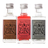Three miniature bottles in the Flavours of York miniature gift set - unboxed