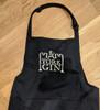 York Gin cotton apron stitched branding black colour