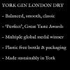 Written description of York Gin London Dry