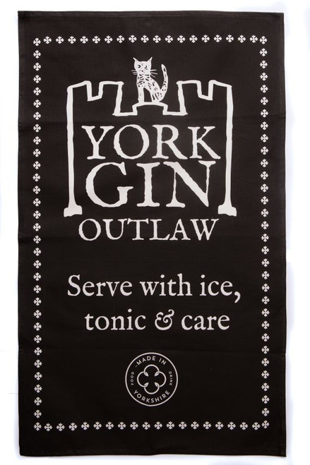 York Gin Outlaw tea towel
