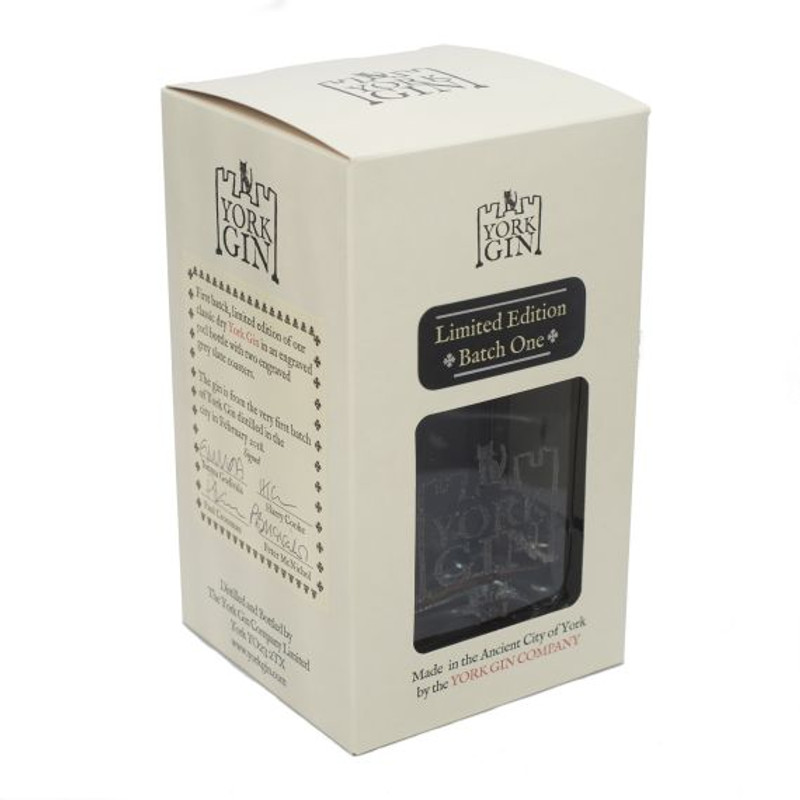 York Gin London Dry First Batch Limited Edition 50cl in box from above