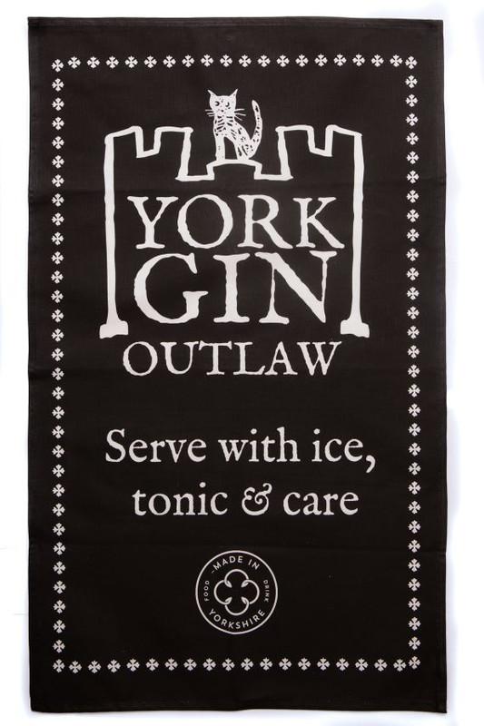 York Gin Outlaw tea towel