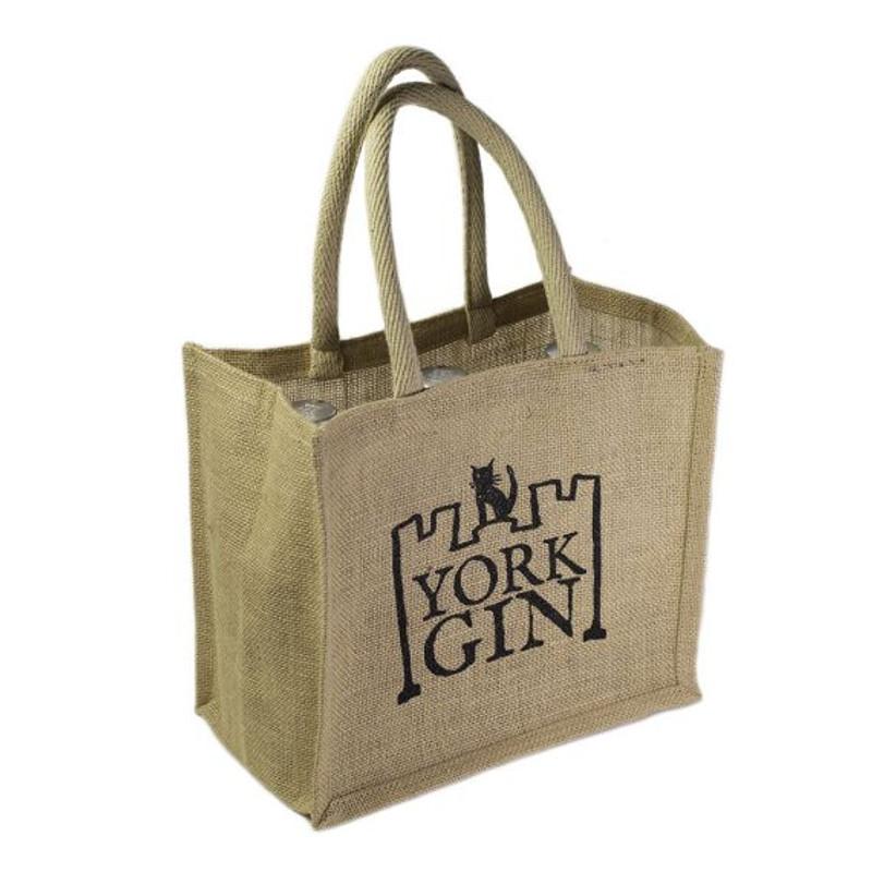 York Gin branded small jute bag